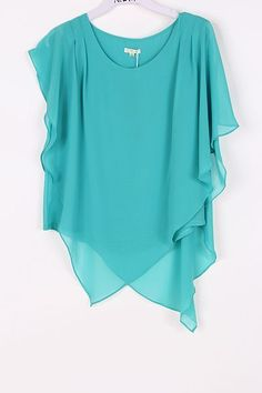 Aubrey Layered Chiffon Tunic In Teal Turquoise On Emma Stine Limited. Beautiful Outfits, Cool Outfits, Fashion Outfits, Womens Fashion, Mode Plus, Fashion Earrings, Passion For Fashion, Dress To Impress, Style Me