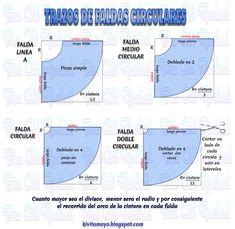 KiVita MoYo : TRAZOS DE FALDAS CIRCULARES