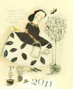 Lili Rose cultive de belles lettres pour en faire de jolies bouquets de mots. (Illustration Manon Gautier)