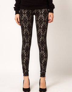 Warehouse Lace Leggings