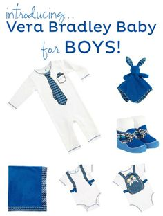 Vera Bradley Baby introduces new pieces for boys! Fabulous new baby and baby shower gifts.