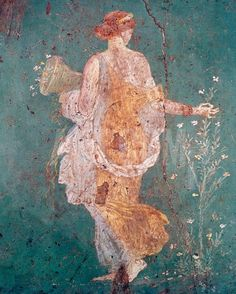 Pompeii Fresco II Giclee Print by The Vintage Collection at Art.com