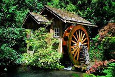Water Wheel at Minter Gardens Chilliwack Canada