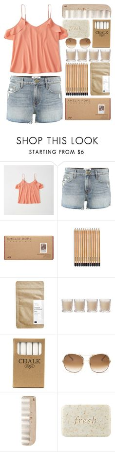 """""""A Simple Life is a Beautiful Life"""" by isabellarose958 ❤ liked on Polyvore featuring Abercrombie & Fitch, Frame, Amelia Rose, Paper & Tea, Shabby Chic, Jayson Home, Chloé, HAY and Fresh"""