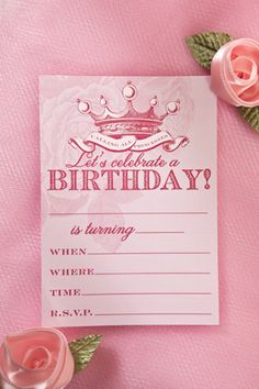 Princess for a Day: free printables (invite, place cards and birthday crown template)