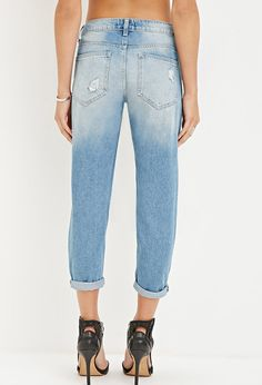 Destroyed Low-Rise Capri Jeans | Forever 21 - 2000180673