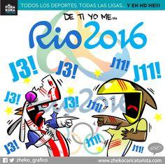 """#ElCartonDelDia para @PurakuraWeb""""DE TI YO ME RÍO"""" #Chivas #America #ChivasTV #Rio2016"""