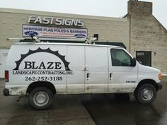 FASTSIGNS of Menomonee Falls applied vehicle graphics, for Blaze Landscape Contracting Inc. Check us out at fastsigns.com/452, call us at #262-253-0799, email us at 452@fastsigns.com, or come visit us at W173N9170 St. Francis Drive, Suite 1, Menomonee Falls, WI 53051