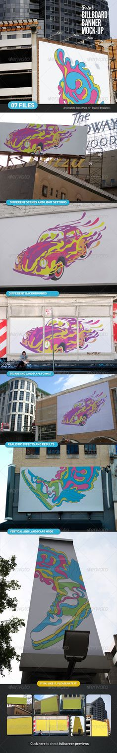 Billboard | Banner Mock-Up  #logo  • Click here to download ! http://graphicriver.net/item/billboard-banner-mockup/4536490?ref=pxcr
