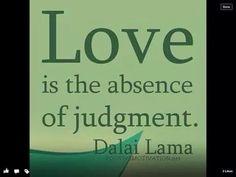 Absence judgement. Dalai Lama