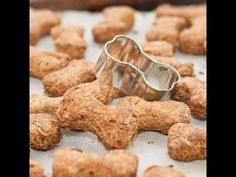 Homemade Dog Biscuits with Baby Food Cupcakes For Dogs Recipe, Dog Cookie Recipes, Dog Biscuit Recipes, Dog Treat Recipes, Dog Food Recipes, Gluten Free Biscuits, Dog Biscuits, Homemade Biscuits, Dog Bread
