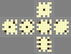 How to make dice. Perler Bead 3 D Dice - Step 3