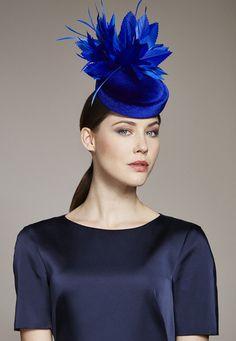 Juliette Botterill Millinery | Velvet Feather Pillbox | Blue and Pill Box Hats | LOVEHATS.COM