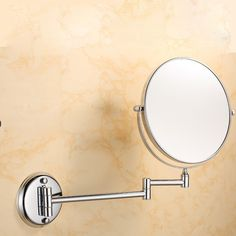Wall Mount Makeup Mirror Magnification Bathroom Swivel TwoSided Polished Chrome *** Learn even more about the terrific product at the image link. (This is an affiliate link). Wall Mounted Makeup Mirror, Bathroom Mirrors, Polished Chrome, Wall Lights, Image Link, Mirror Bathroom, Appliques, Wall Fixtures