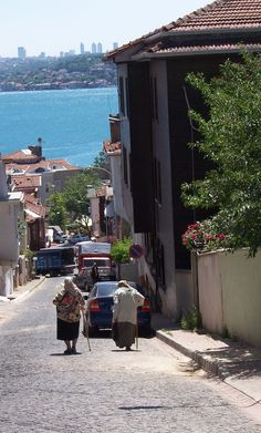 Beykoz  Istanbul - typical scene.  beautiful view down to the water.