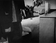 """art-and-fury: """" pickledelephant: Dream sequence designed by Salvador Dalí in Spellbound (1945) by Alfred Hitchcock """""""