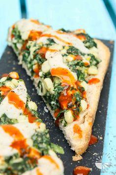 Creamy Corn and Spinach Toast #vegan #glutenfree | www.vegetariangastronomy.com