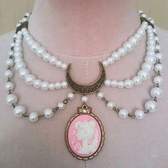 Princess Serenity Enchanted Moon Necklace via Divinity Doll. Click on the image to see more!