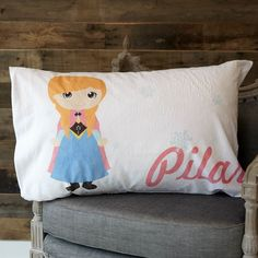 Minky Princess Name Pillowcase – Lolly Wolly Doodle Bed Pillows, Pillow Covers, Princess, Baby, Doodle, Collection, Home, Products, Pillows