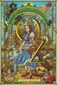 The Wizard of Oz by Frank Baum Illustration by Ise Ananphada Dorothy Wizard Of Oz, Wizard Of Oz 1939, Wizard Of Oz Movie, Wizard Of Oz Decor, Wizard Of Oz Tattoos, Land Of Oz, Kunst Poster, Pop Culture Art, Emerald City
