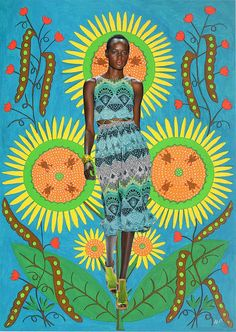 Mara Hoffman's Spring 2013 collection. something about Mara's symmetrical prints and bright palette reminds me of the colourful work of Ukrainian folk artist & decorative painter Maria Primachenko.