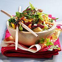 Wok de légumes asiatiques et gésiers confits