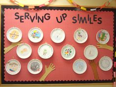 Serving Up Smiles Picnic Theme Picnic Bulletin Boards, Cafeteria Bulletin Boards, Health Bulletin Boards, Classroom Bulletin Boards, Classroom Themes, School Classroom, Kids Nutrition, Nutrition Poster, Nutrition Drinks