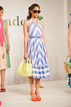 not a dressy person, but i would wear this. great color combos! kate spade's spring line.