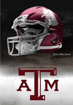 Texas A & M University Aggies - concept football helmet. They are okay but I like the wire and black ones we played with this year Texas A M Football, College Football Helmets, Buckeyes Football, Custom Football, Football Uniforms, American Football, Understanding Football, Collage Football, Sports Helmet