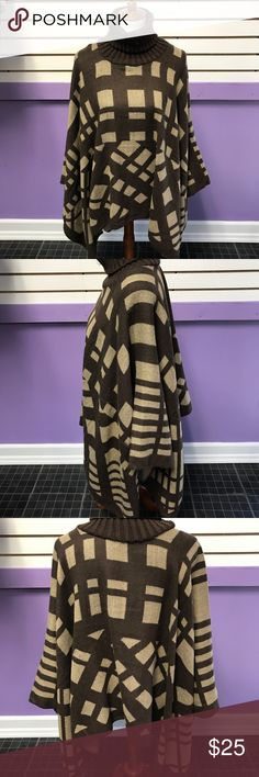 Turtleneck Poncho Great for Fall n Winter Sweaters Cowl & Turtlenecks