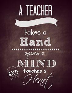 A Teacher takes a hand, opens a mind and touches a heart. #TeacherAppreciationDay #THANKATEACHER