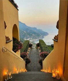 Stairway to heaven of ~ Amalfi Coast, Italy. Places To Travel, Places To See, Travel Destinations, Beautiful World, Beautiful Places, Photos Voyages, Travel Aesthetic, Amalfi Coast, Florence Italy