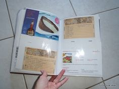 Organizing recipes using a photo album: keeps them clean, plus easier to find!