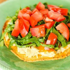 These tuna melt tostadas are a fun new way to eat an old favorite.