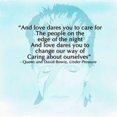David Bowie quote Under Pressure