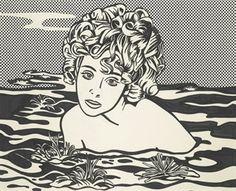 Roy Lichtenstein - Girl in Water, 1968 Roy Lichtenstein Pop Art, Girl In Water, Art Institute Of Chicago, Painting Process, Popular Culture, American Art, Printmaking, Amazing Art, Comic Art