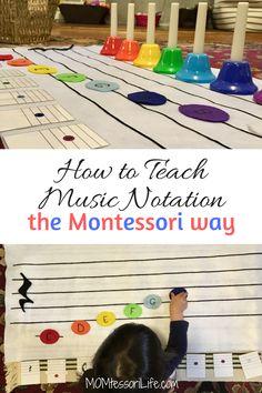 How to Teach Music Notation the Montessori Way Musiknotation nach Montessori-Art unterrichten Elementary Music What Is Montessori, Montessori Kindergarten, Montessori Homeschool, Montessori Elementary, Montessori Classroom, Montessori Activities, Elementary Music, Music Classroom, Homeschooling