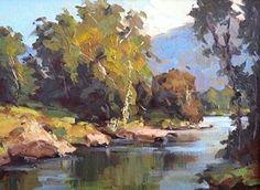 River Light by Bill Davidson Oil ~ 12 x 16