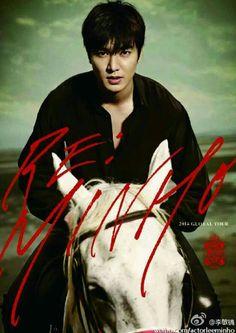 Lee Min Ho on a horse, Gorgeous