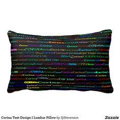 Corina Text Design I Lumbar Pillow