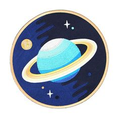 Finally something to fill up the back of that jean jacket thats just your style!  8.5 embroidered circle patch that will help you blast off! Building that perfect space-centric denim? We got your back!  Iron on backing, also can be hand or machine sewn.