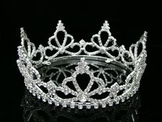 Full Crown Bridal Pageant Rhinestone Crystal Wedding Tiara 7485