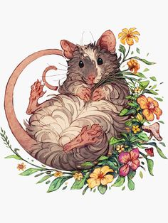 Taking a little break from commissions 🐭🌼🌿 And thank you all so much for . Just added this one to redbubble too! Cute Animal Drawings, Animal Sketches, Cute Drawings, Art Sketches, Character Art, Character Design, Illustration Art, Illustrations, Cute Rats