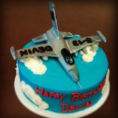 Fighter Jet Birthday Cake by Frostings Bake Shop
