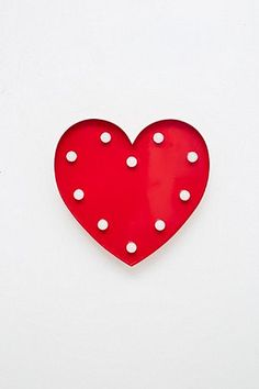 Heart Lamp in Red