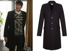 """Jung Gyu-Woon 정겨운 in """"Birth of a Beauty"""" Episode 5.  Sandro Apollo Black Wool Overcoat  #Kdrama #BirthOfABeauty 미녀의 탄생 #JungGyuWoon"""