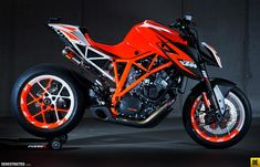 A prototype KTM Superduke 1290R. It's the first fully functional show bike KTM has ever made and puts out 180hp. The bike was just shown to the public at the Eicma in Milan today 11/13/12