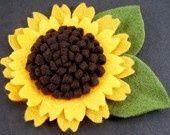 bunga matahari dari flanel