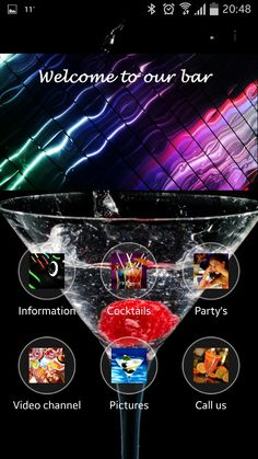 Geniusapps.nl inspiration bar/clubs app. Find us on Facebook with searchterm GeniusApps.nl