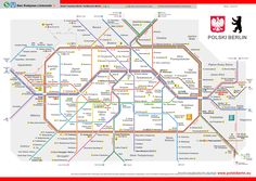 Printable & PDF maps of Berlin subway, underground & tube (u bahn) with informations about the BVG network map, the stations and the 10 lines & routes Bahn Berlin, Transport Map, Public Transport, U Bahn Plan, Underground Tube, Metro Map, Berlin, Accenture Digital, Germany
